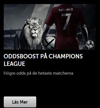 Hämta oddsboost på Champions League via din mobil!