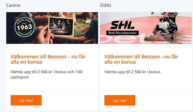 Öppna konto på Betsson och slåss om 100 000 kronor nu!