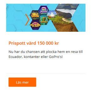 Tävla om 150 000 kr i prispotten på Betsson!