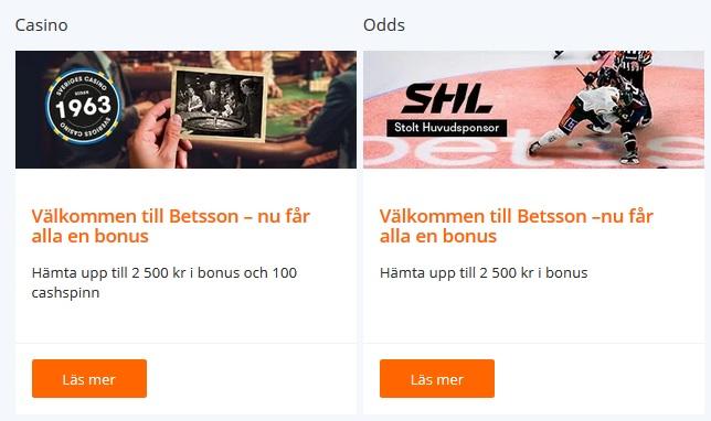 Registrera dig på Betsson och vinn din andel av 150 000 kr!
