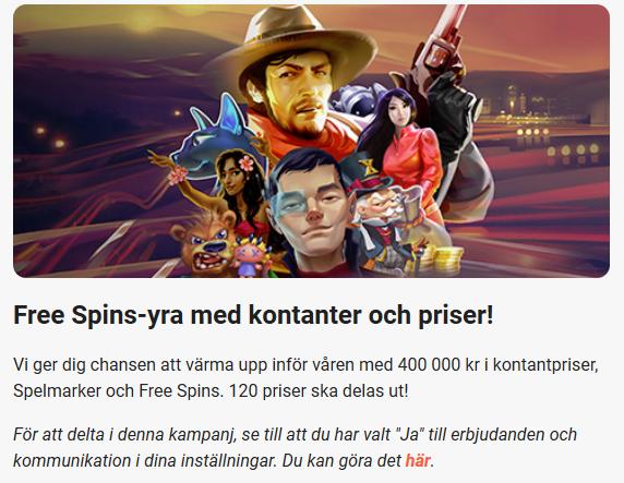 Fira freespins-yra på LeoVegas och tävla om freespins & 100 000 kr kontant!