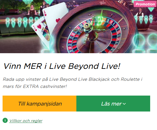 Vinn mer på Live Casino i Roulette och Blackjack på Mr Green!