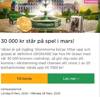 Tävla om 30 000 kr i potten på Mr Green!