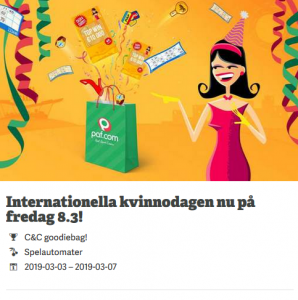 "Fira Internationella Kvinnodagen med ""goodiebag"" på Paf casino!"