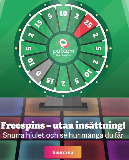 Gå med Paf och börja tävla om dina 28 000 kr samt dagliga freespins till samma slotsspel!