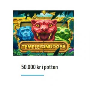 50 000 kr i potten i Temple of Nudge-turnering hos iGame Casino!