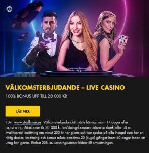 Få upp till 20 000 kr i live casino hos Bethard!