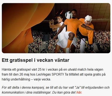 Hämta ditt 25 kr gratisspel på Bundesliga nu hos LeoVegas!