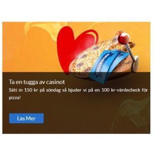 Få 100 kr rabattkod på pizza hos Sverigeautomaten!