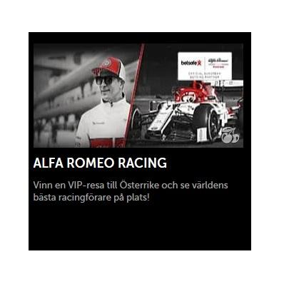 Vinn i Alfa Romeo Racing turneringen hos Maria Casino!