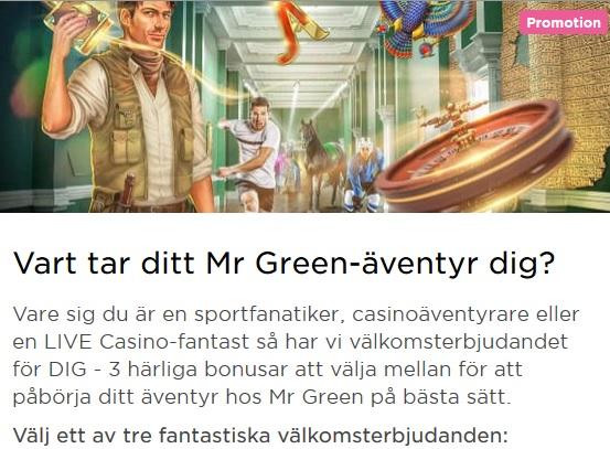Bli medlem hos Mr Green och ta del av din personliga jackpott!