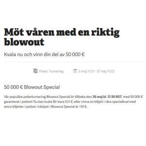 Vinn din del av 50 000 € i poker hos Paf!