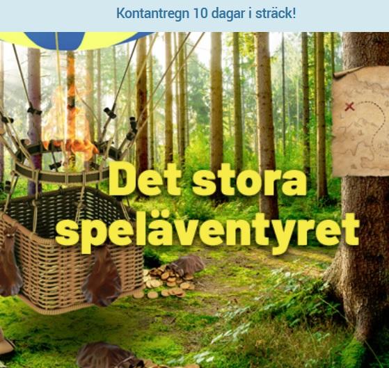 Delta i Det stora speläventyret hos SwedenCasino!
