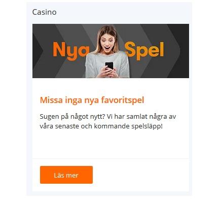 Prova de nya spelen hos online casino Betsson!