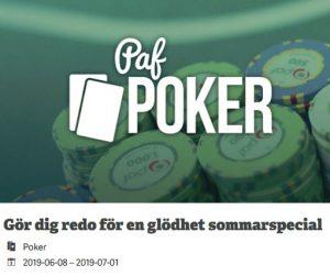 Sista rycket för nätpokern på Paf Casino!