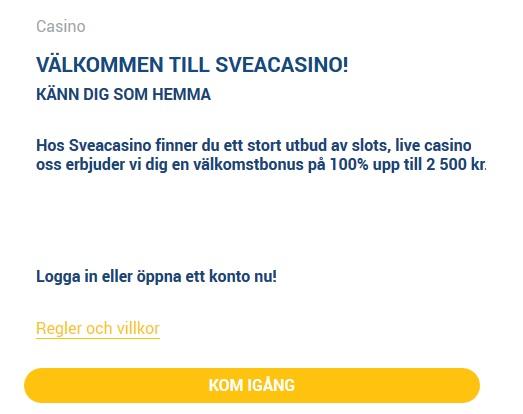 Registrera på Svea Casino så du kan börja fira Sveafestivalen!