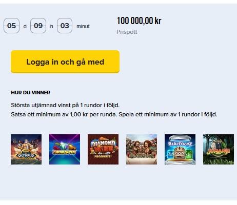 100 000 kr i potten på iGame Casino!