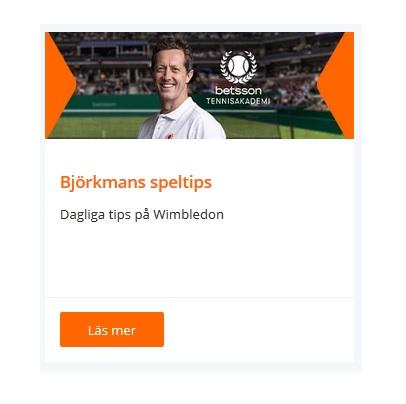 Ta del a v Björkmans speltips för tennis på Betsson!