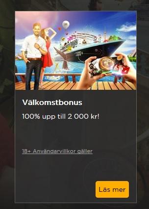 Klicka här och hämta din Casino Cruise 2000 kr bonus nu!