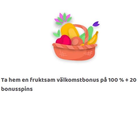 Spela och vinn upp till 10 000x gånger insats hos Fruity Casa nu!