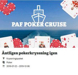 Tävla om pokerkryssningen nu på Paf casino!