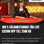 Hämta 100 % bonus upp till 2500 kr på live casino på Rizk!