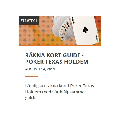 Läs hur du räknar kort i poker Texas Hold'em på Betsson!