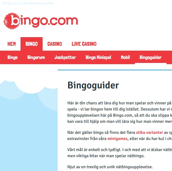 Läs bingoguider på Bingo.com!