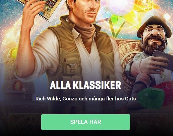 Klicka här och spela nya Veckans Spel på Guts Casino!