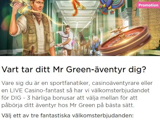 Tryck eller klicka här för att spela live casino på Mr Green!