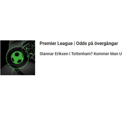 Färska odds på Premier League hos casino Unibet!