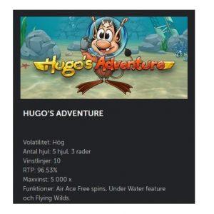 Vinn upp till 5000x gånger insats i nya Hugo's Adventure hos Betsafe!
