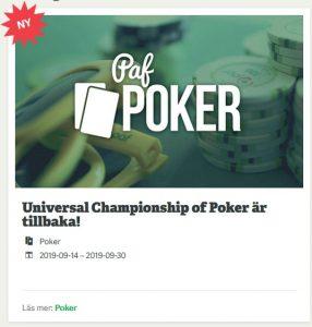 Vinn din plats till UCOP Poker på Paf Casino!
