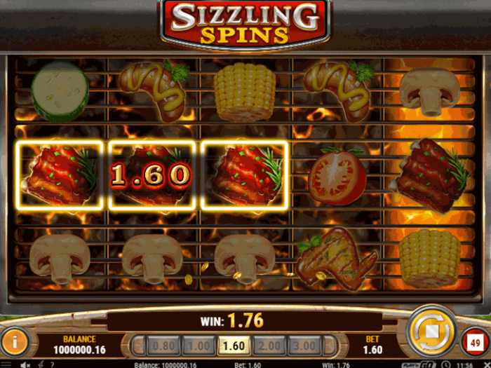 Sizzling Spins iframe