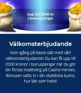 Spana in det nya live casino på Casino Heroes nu!