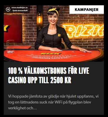 Rizk Casino introducerar jackpottar timvis!