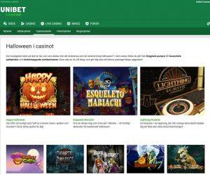 Fira Halloween 2019 på Unibet Casino!
