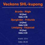 Betsson - Veckans SHL-Kupong!