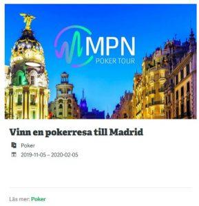 Pokerresan till Madrid tack vare Paf Casino!