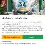 Mr Green Casino Julkalender 2019!
