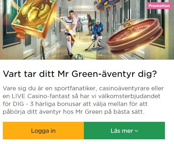 Öppna luckorna i Julkalendern 2019 hos Mr Green Casino!