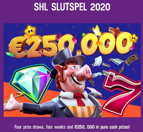 250 000 € i prispotten under SHL Slutspel 2020 hos Lucky Casino