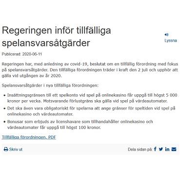 Svenska casinon kommer få ny välkomstbonus snart!