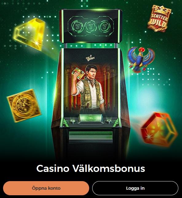 Ta del av 20 freespins som ny spelare vid Mr Green Casino!